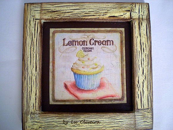 Quadro Cupcake Lemon Cream
