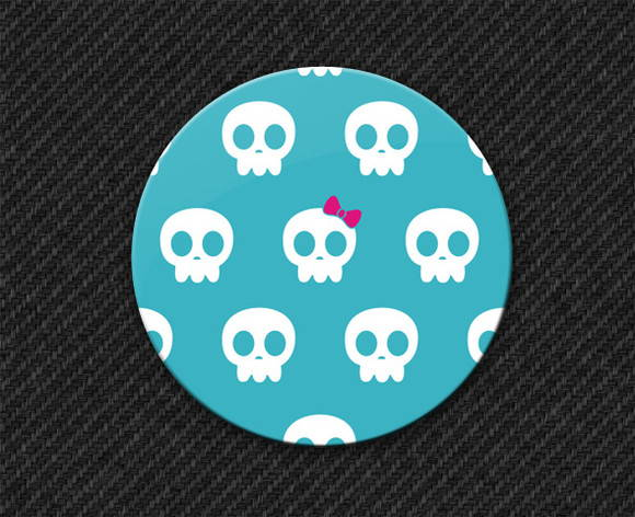 Botton Blue Skull Girls