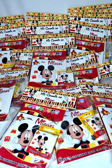 Kit revistinha de colorir Mickey!