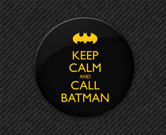 Botton Keep Calm and Call Batman