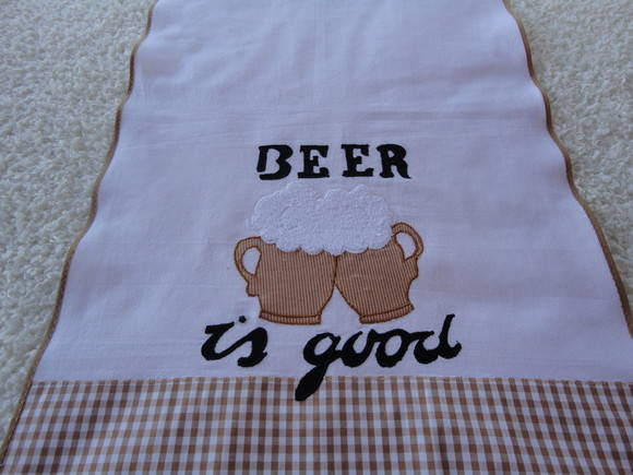 "Pano de prato ""Beer is Good"""