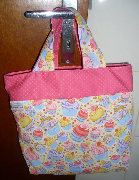 Lunch Bag cupcakes rosa