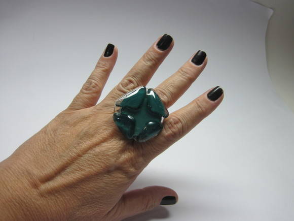 Maxi Anel-Vidro / OVERSIZED  Glass Ring