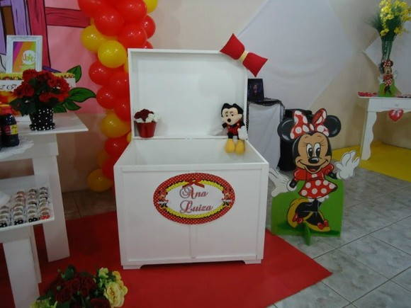 Placa da minnie Vermelha