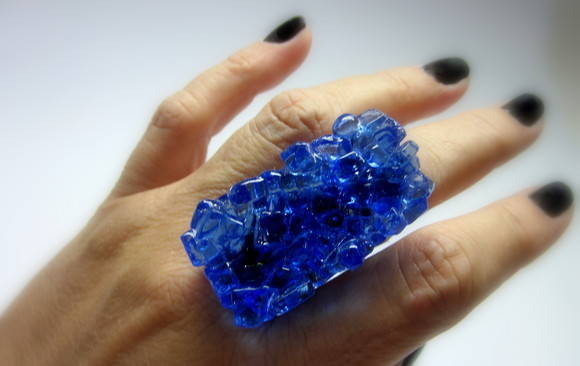 MAXI Anel - Vidro /OVERSIZED Glass Ring