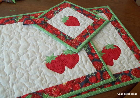 Jogo americano em patchwork no elo7 atelier casa de - Casas de patchwork ...