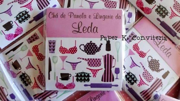 c50001b836a172 Convite de Chá - Lingerie e Panela !