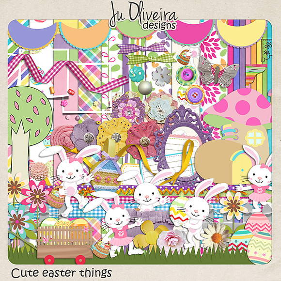 Cute easter things by Ju Oliveira