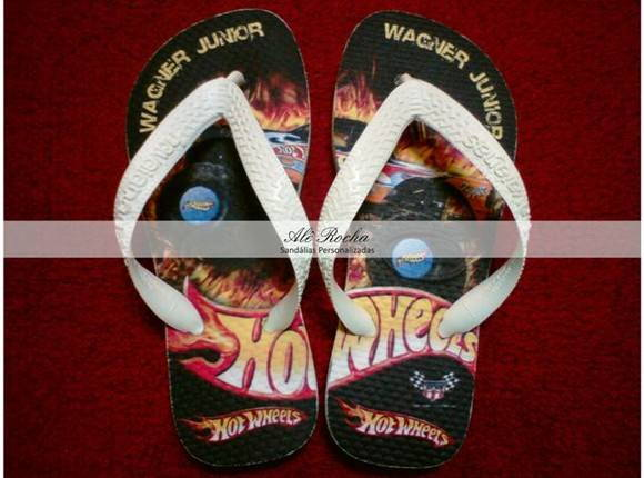 Chinelo Hot Wheels Personalizado