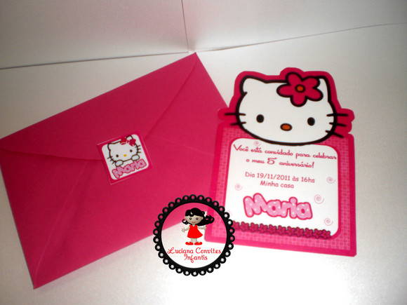 CONVITE PERSONAGEM HELLO KITTY