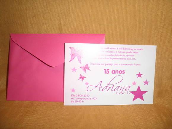 Quero Montar Meu Convite De 50 Anos: Convite 15 Anos 1F3299 No Elo7