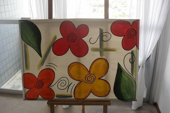 Tela flores moderna atelie mrs elo7 - Telas para tapizar modernas ...