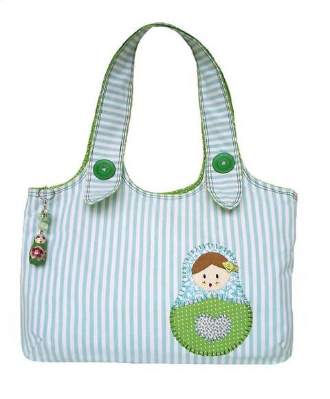 Bolsa Matrioska Kitty Verde