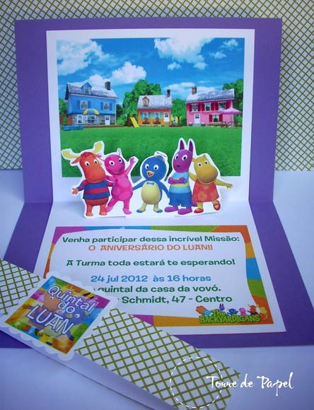 Convite Backyardigans [Pop-up]