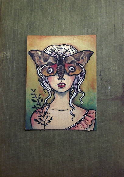 ACEO Original - Lady Moth