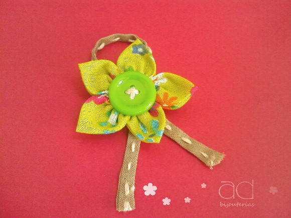 Broche Marie - Verde Floral