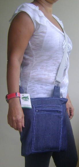 Bolsa jeans lateral