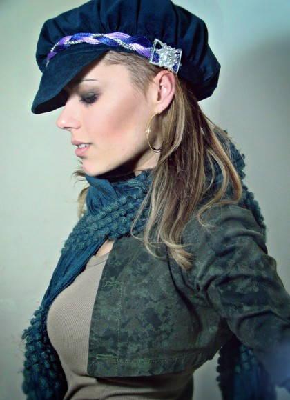 Boina Francesa Azul Marinho com Headband no Elo7  ad25f04e92c