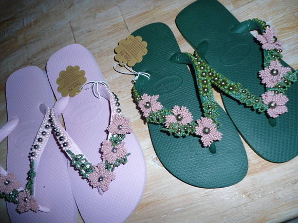 chinelo havaiana floral