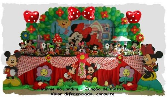 Decoração de festa Minnie Vermelha  Atelier Doces Sonhos Festas
