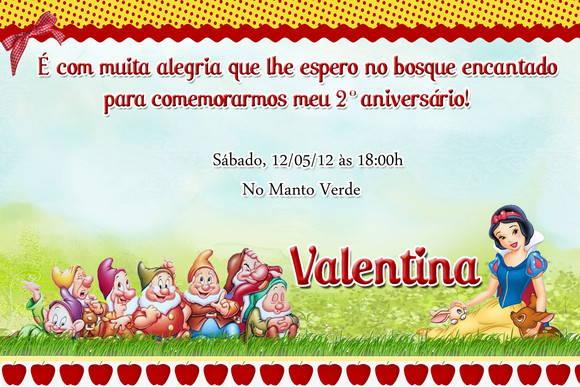 Convite Branca De Neve No Elo7 Loja Criativa Presentes 21300c