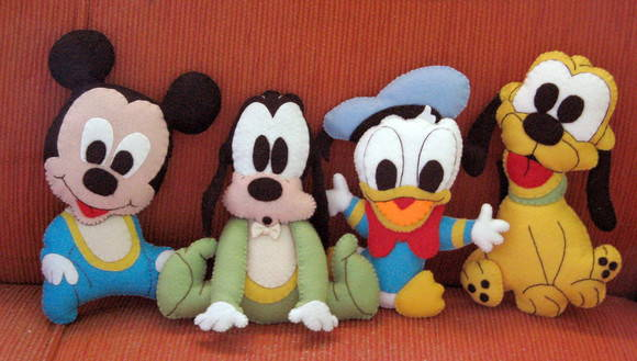 Bonecos da Turma do Mickey