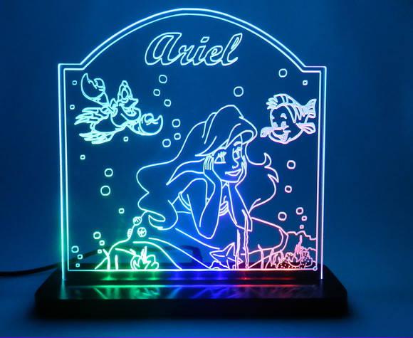 Luminária Personalizada Ariel no Elo7 K2 Creative Design (2166E5)