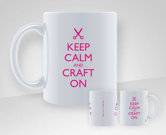 Caneca Keep Calm and Craft On