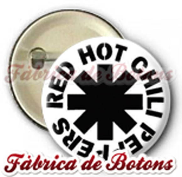 BOTON 2,5cm RED HOT CHILLI PEPPERS