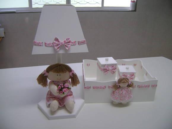 kit higiene boneca no Elo7 ARTE DE DECORAR (220C4F) -> Como Decorar Kit Higiene Bebe Com Tecido