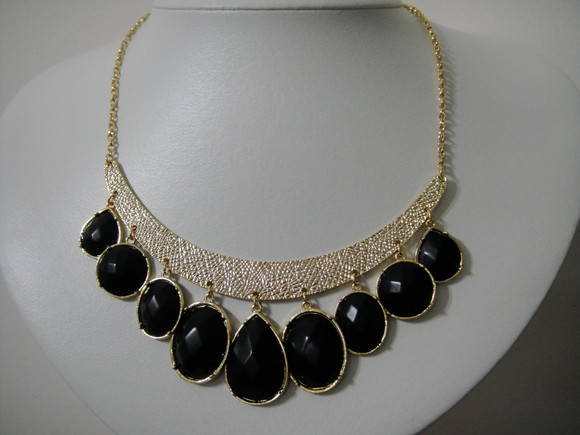 Maxi colar Black and gold basic