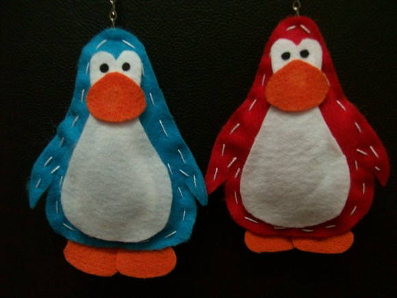 Chaveiro Club Penguin