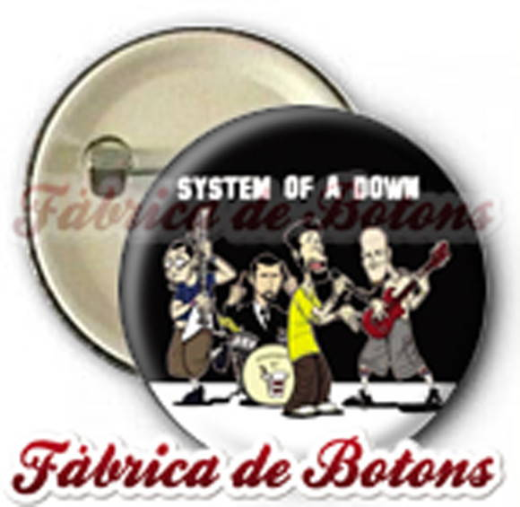 BOTON 2,5cm SYSTEM OF A DOWN