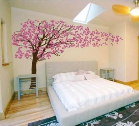 Adesivo decorativo de parede cerejeira no elo7 for Vinilo para habitacion juvenil