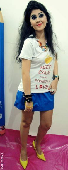 Maxi camiseta Keep Calm branca