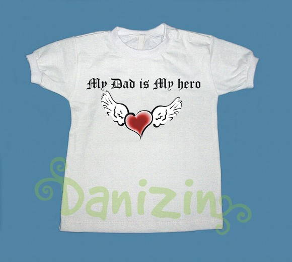 T-Shirt Bebê e Infantil MY DAD MY HERO
