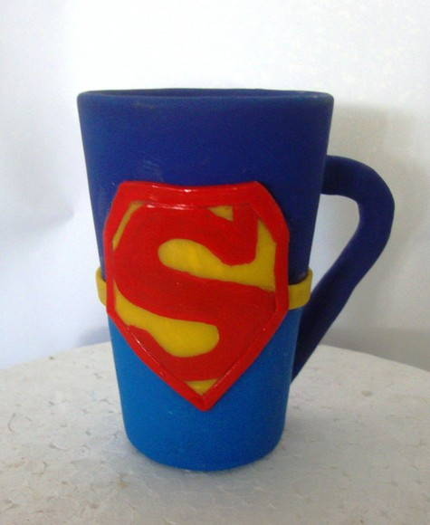 caneca decorativa do Super  man