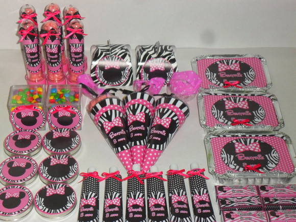 Kit Guloseimas Minnie Safari Rosa