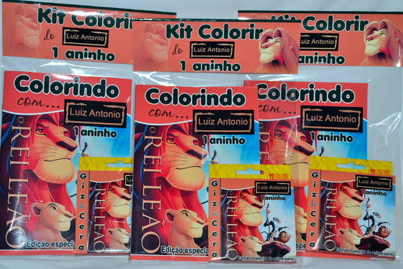 Kit de colorir Rei Leão