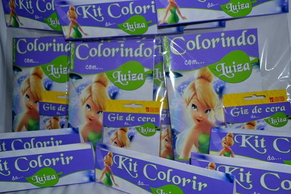 Kit de colorir Sininho