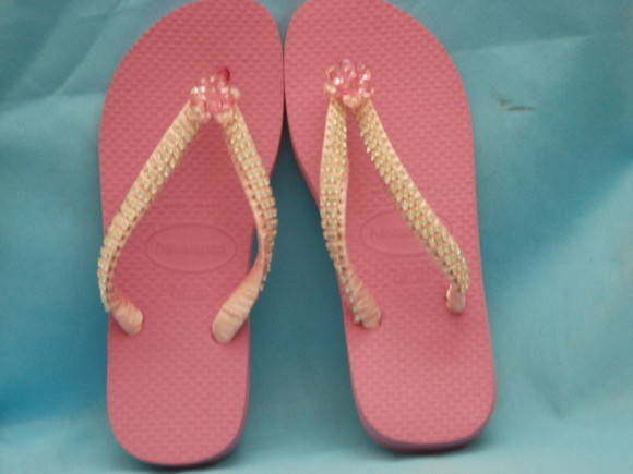 Chinelo Customizado Rosa