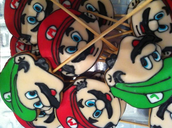 Biscoito decorado Mario Bros