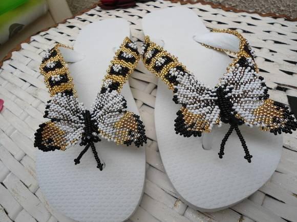a54ff7a1d chinelo havaiana bordado com borboleta no Elo7 | Ponto por Ponto ...