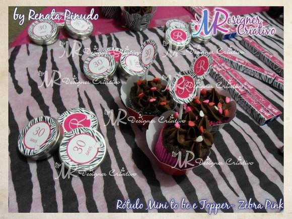 Toppers Zebra Pink