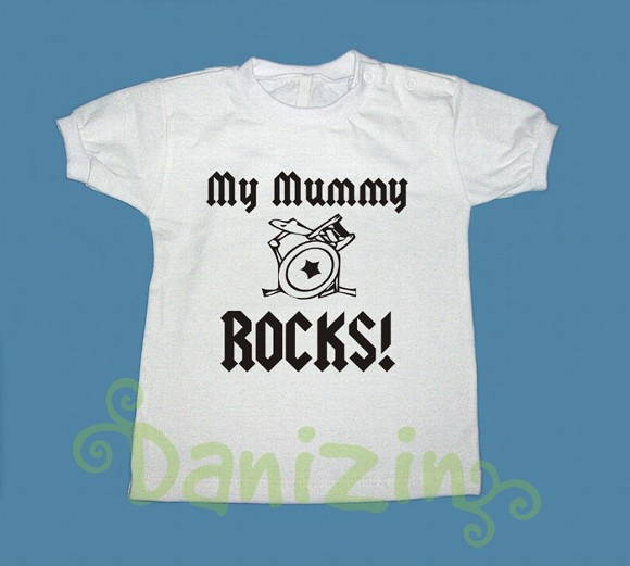 T-Shirt Bebê e Infantil MY MUMMY ROCKS!