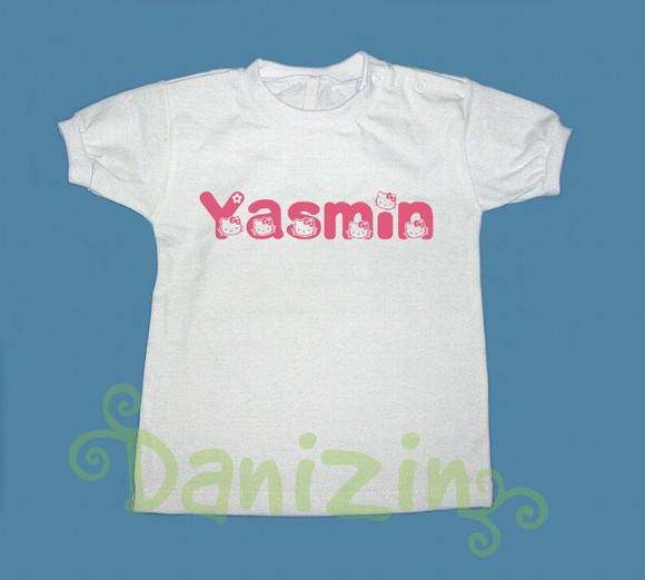 T-Shirt Bebê e Infantil Hello Kitty