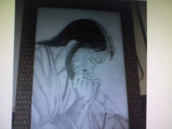 Desenho Em Grafite Jesus Elo7