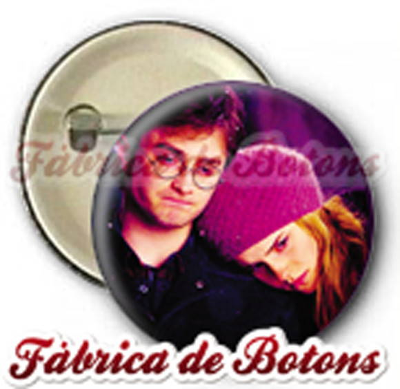 BOTON 2,5cm HARRY POTTER E HERMIONE
