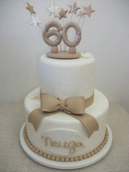 Bolo Aniversario 60 Anos No Elo7 Edna Decorações 24597b