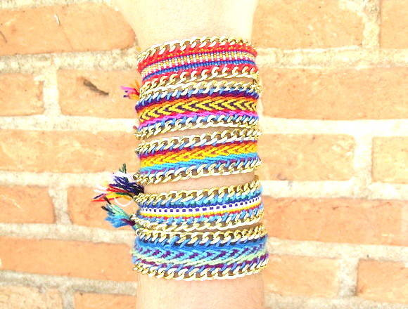 Friendship Bracelete com Correntes